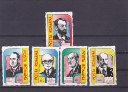 #148       ANNIVERSARIES, POLITICIANS,    5X STAMPS    MNH**, 1995,  Mi. 5103/07,   ROMANIA. - Nuevos