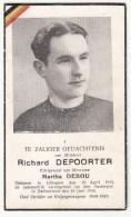 WIELRENNER, COUREUR CYCLISTE, RICHARD DEPOORTER, Ichtegem 1915, Verongelukt In Tour De Suisse 1948 In Sustenpas - Andachtsbilder