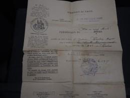 MILITARIA - Permission De Mise En Congé Illimité En 1919 - A Voir - L 1418 - Documents