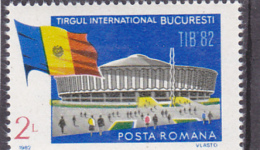 #149      ROMANIAN MARKET, BUILDING, FLAG,  1X STAMPS  MNH**, 1982 Mi. 3902,   ROMANIA. - Ungebraucht