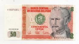 Perù - 1987 - Banconota Da 50 INTIS - Nuova -  (FDC277) - Peru