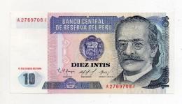 Perù - 1986 - Banconota Da 10 INTIS - Nuova -  (FDC278) - Perú