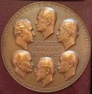 Médaille - CENTENAIRE DE LA SOCIETE CHIMIQUE DE FRANCE - 1857/1957 Par R. Cochet - Professionnels / De Société
