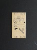 TICKET BREST SAINT-NAZAIRE 3ème CLASSE MILITAIRE 10 AVRIL 1940 - Chemins De Fer