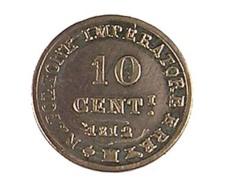 10 Centimes - Napoléon 1er - Italie - 1812 M - Bronze - TB+ - - Temporary Coins