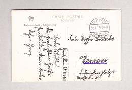 Belgien GENT SÜDBHF. 20.4.1915 Ansichtskarte Nach Hannover D  (Motiv Jour De Marché) - Bahnwesen