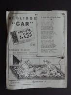PROTEGE-CAHIER REGLISSE CAR - Buvards, Protège-cahiers Illustrés