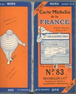 Carte Géographique MICHELIN - N° 083 - CARCASSONNE-NIMES - N° 2430-15 (sur Toile) - Roadmaps
