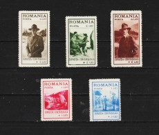 1931 -  Exposition Du Scoutisme,a Bucarest Mi No 413/417 Et Yv No 422/426 MNH - 1918-1948 Ferdinand, Carol II. & Mihai I.