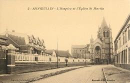 59 ANNOEULLIN - L HOSPICE ET L EGLISE SAINT MARTIN - France