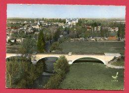 CPSM (W 613) EN AVION AU-DESSUS DE 10 - VERTEUIL (16 CHARENTE) Le Pont Et Vue Panoramique - France