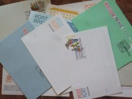 SWEDEN SELECTION OF 12 POSTCARDS & POST BREV WITH SONDERSTEMPELS - Lettres & Documents