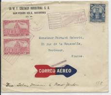 HONDURAS - 1931 - ENVELOPPE AIRMAIL De SAN PEDRO SULA Pour BORDEAUX Via TELA - Honduras