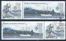 Suède 1985 1320/1321 Oblitérés  En Paires Fédération Du Tourisme - Suède
