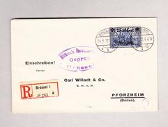Belgien Brüssel 24.5.1917 Zensur R-Brief Nach Pforzheim D - WW I