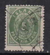ISLAND - ISLANDE  N° 13A  (0) – (1882) – Chiffre 5 - Oblitérés