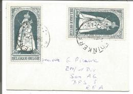 BELGIQUE MIGNONNETTE DE ADINKERKE POUR L'ALLEMAGNE 1967 - Marcophilie