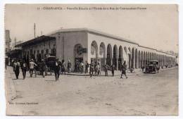 Maroc--CASABLANCA-Nouvelle Kissaria (Zanzi Bar)et L´entrée De La Rue Du Commandant Provost (très Animée,voiture,attelage - Casablanca