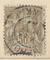 Indocina - 1901 - Usato/used - Allegorie - Mi N. 21 - Used Stamps