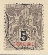 Indocina - 1903 - Usato/used - Allegorie - Mi N. 22 - Used Stamps