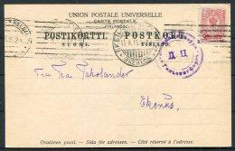 1915 Finland Helsingfors Censor Postcard - Ekenas