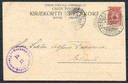 1916 Finland Helsingfors Censor Postcard - Ekenas