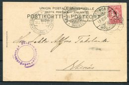 1916 Finland Helsingfors Kronoby Censor Postcard - Ekenas