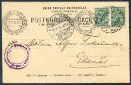 1916 Finland Helsingfors Tammisaari Raumo Censor Business Postcard - Ekenas