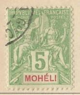 Moheli - 1906 - Usato/used - Allegorie - Mi N. 4 - Used Stamps