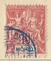 Moheli - 1906 - Usato/used - Allegorie - Mi N. 5 - Used Stamps