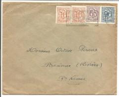 BELGIQUE LETTRE DE BRUXELLES 1952 - Marcophilie