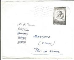 BELGIQUE LETTRE DE COURCELLES 1967 - Marcophilie