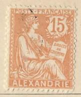 Territori Francesi - Alexandrie - 1910 - Usato/used - Allegorie - Mi N. 31 - Used Stamps