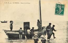 - Depts Div.-ref-KK241- Pas De Calais - Le Portel - Retour De La Peche - Bateau B.2552 - Bateaux - Peche - Enfants - - Le Portel