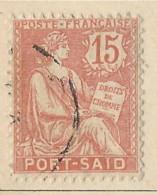 Territori Francesi - Port Said - 1903 - Usato/used - Allegorie - Mi N. 24 - Used Stamps