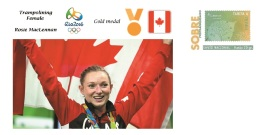 Spain 2016 - Olympic Games Rio 2016 - Gold Medal Gymnastic Female Canada Cover - Juegos Olímpicos