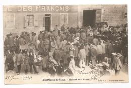 Carte Précurseur - MONTFAUCON Du VELAY - Marché Aux Veaux - Marché Nommé - FOIRE - VEAUX - Voyagée 1904 - Montfaucon En Velay