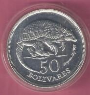 VENEZUELA 50 BOLIVARES 1975 WWF AG FDC ONLY EST 8000 PCS GIANT ARMADILLO - Venezuela