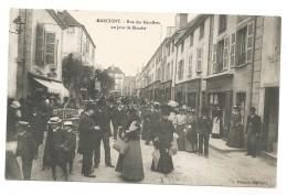 MARCIGNY - Rue Des Récollets Un Jour De Marché - Marché - FOIRE - Voyagée 1908 - Otros Municipios