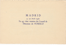 #T100    REUNION OF UNESCO COUNCIL, MADRID,    BOOKLETS,   1956   , SPAIN EXIL, ROMANIA. - Carnets