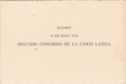 #T102      SECOND CONGRESS OF LATIN UNION, MADRID,   BOOKLETS,  1954,  , SPAIN EXIL, ROMANIA. - Carnets