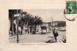 6308. CPA 83 TOULON MOURILLON. BOULEVARD DU LITTORAL. TRAMWAY PUBLICITE DAMES DE FRANCE - Toulon