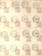 END OF THE OLYMPIADE 1936  BERLIN ALLEMAGNE - OLYMPICS - COMPLETE SHEET WITH 16 SPECIAL OBLITERATIONS