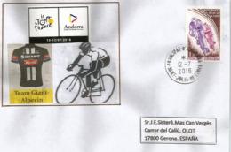 TOUR DE FRANCE 2016, ETAPE ANDORRE 12 JUILLET Enveloppe Spéciale Datée Du 12 Juillet, Équipe Cycliste  Giant-Alpecin - Ciclismo