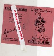 GUERRE 39-45- WW2- MILITARIA- 87-LIMOGES-1945- RARE PETIT CALENDRIER-L' ECHO DU CENTRE-VALMY- FRONT NATIONAL-RESISTANCE - Calendars