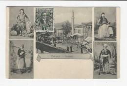 SCUTARI Shkodra Shkoder Albania Shqiperi Shqiperia -  Early 1900's Photo-Postcard (Interesting Stamp) - Albanien