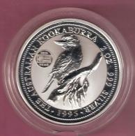 AUSTRALIE 2 DOLLARS 1995 2 OZ AG KOOKABURRA 20TH YEAR HOUR FAMINE SCARCE - 2 Dollars