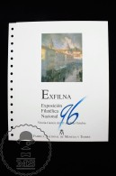 Spain/ España Royal Spanish Mint FNMT Philatelic Document Nº 41 - Exfilna 1996 Exhibition - Vitoria Gasteiz - Espagne