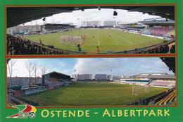 Carte De Stade De:  OSTENDE    BELGIQUE   ALBERTPARKKSTADION         Référence:   RD. 048 - Football