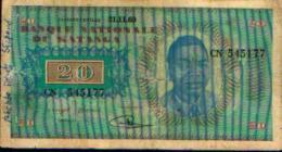 KATANGA - 20 Francs 21.11.60 - République Démocratique Du Congo & Zaïre